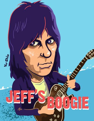 Jeff Beck caricature