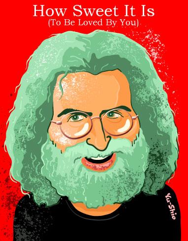 Jerry Garcia Grateful Dead caricature