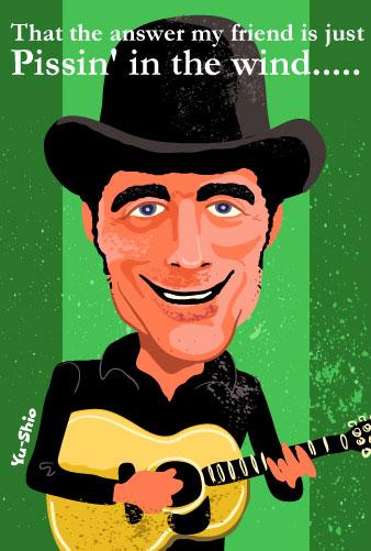 Jerry Jeff Walker caricature