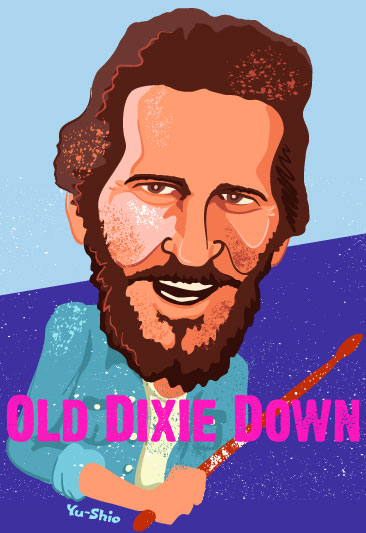 Levon Helm The Band caricature
