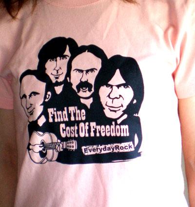EverydayRock T Shirt Crosby Stills Nash Young CSNY Caricature