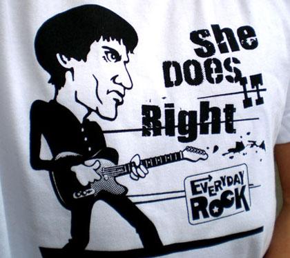 EverydayRock T Shirt Wilko Johnson Caricature