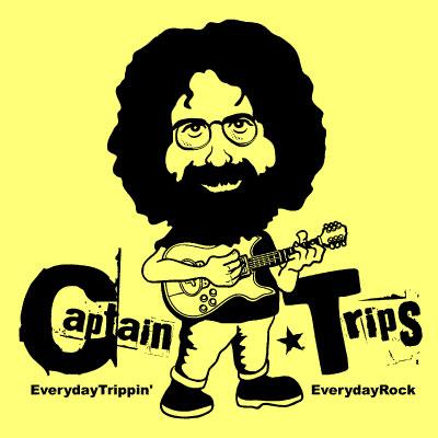 EverydayRock T Shirt Jerry Garcia Caricature