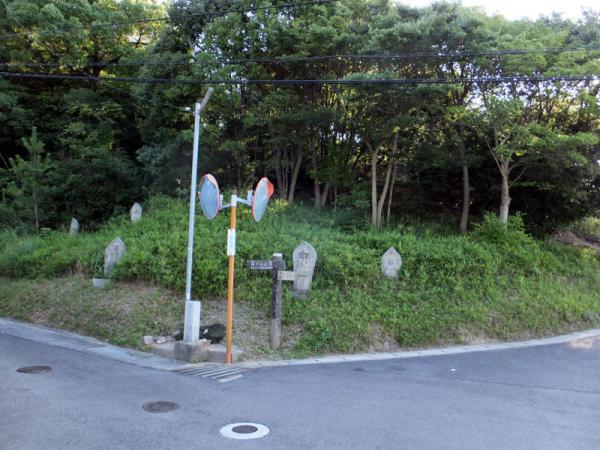 標識が有る交差点