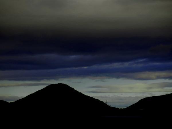 台風接近の朝