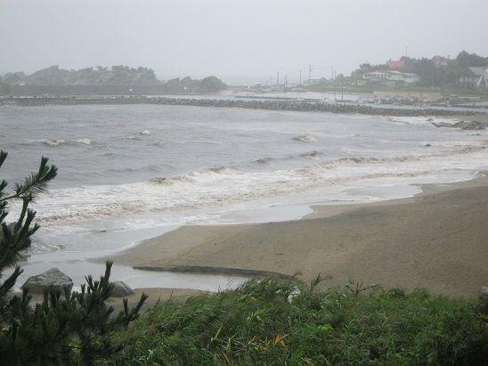 種差海岸 台風18号