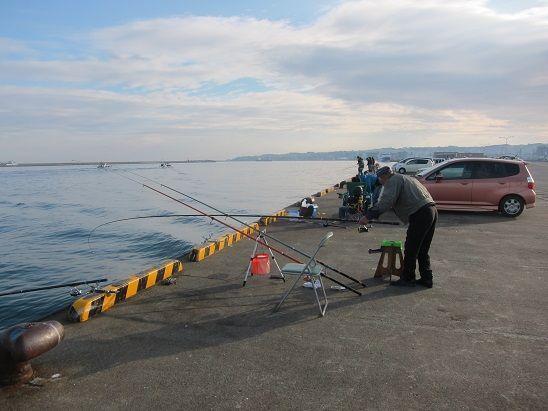 2013.11.3 八戸館鼻漁港 釣り