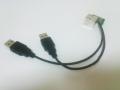 トヨタ4型ハイエースコンソール2連USBコネクタ追加