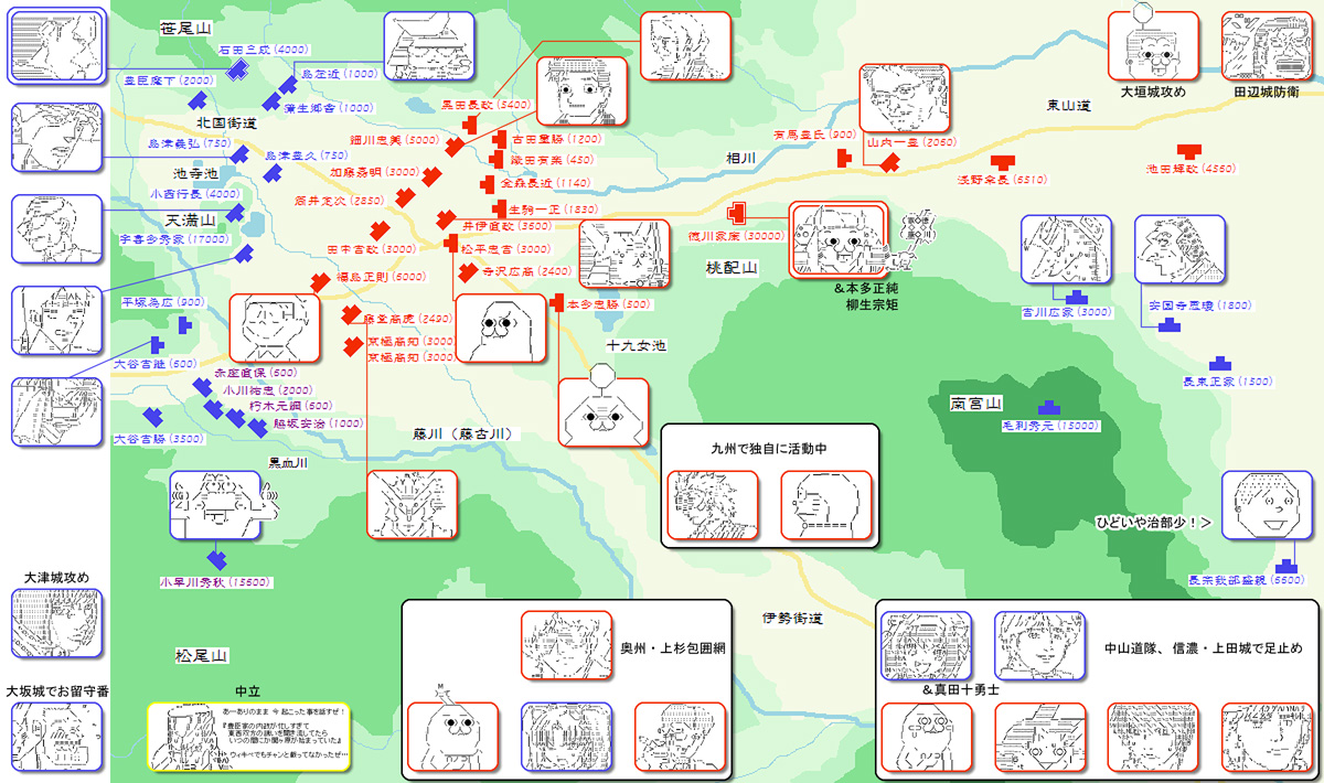 関ヶ原配置図