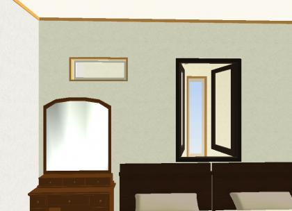 ニ階寝室ガラスブロック2