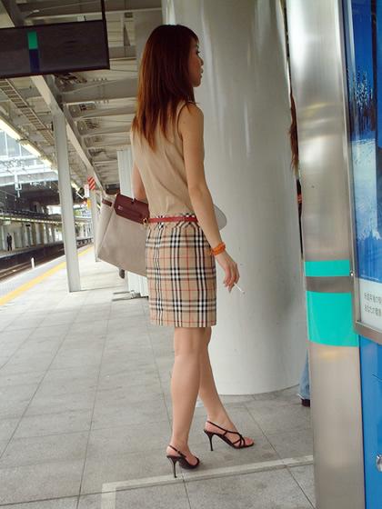 街撮りol高画質 美脚