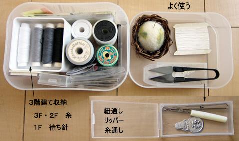 裁縫セットの収納