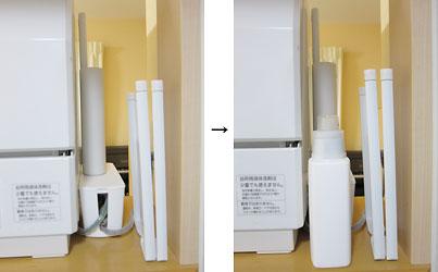 食洗機の配線処理