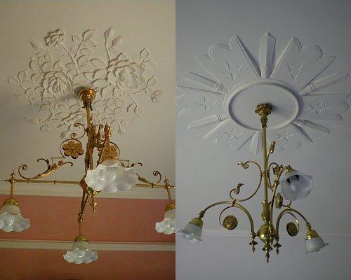 婦人室・食堂 天井飾り