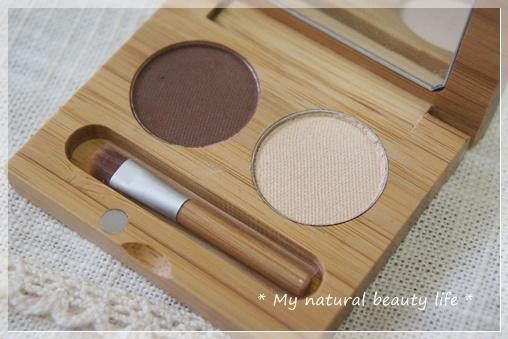 Suncoat, Duo Mineral Eye Shadow With Organic Bamboo Silk