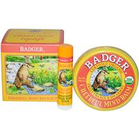 Badger Company, Cheerful Mind Balm Kit, Aromatherapy Kit to Cheer Uplift