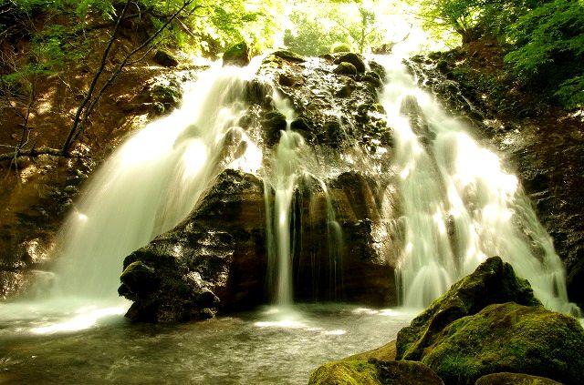 男池湧水と名水の滝