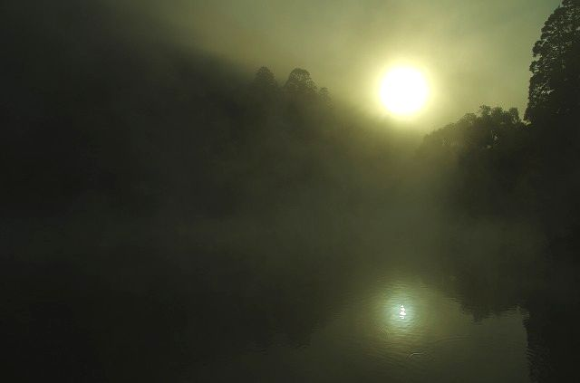 金鱗湖 黎明
