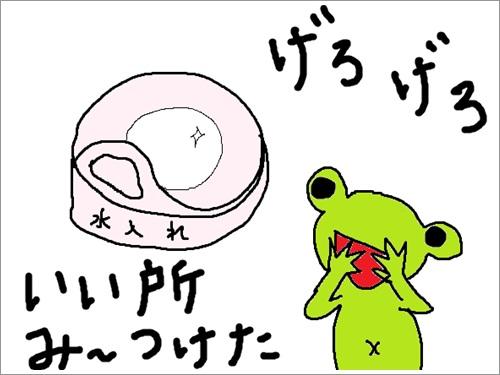 さくらvs蛙 (絵日記と動画)