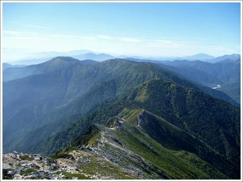 常念岳・蝶ヶ岳へ登ってきました(その2・常念岳から蝶ヶ岳)