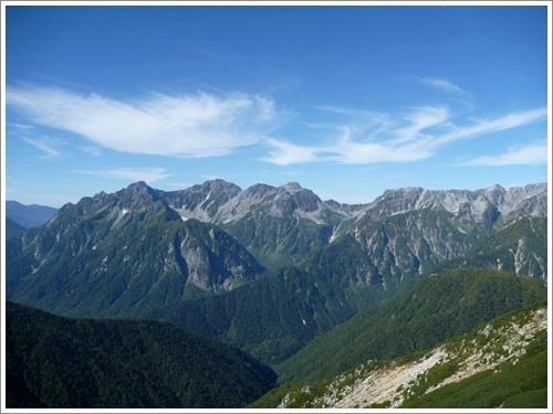常念岳から蝶ヶ岳へ2