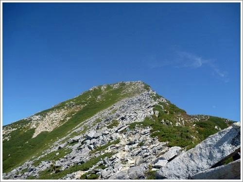 常念岳から蝶ヶ岳へ4