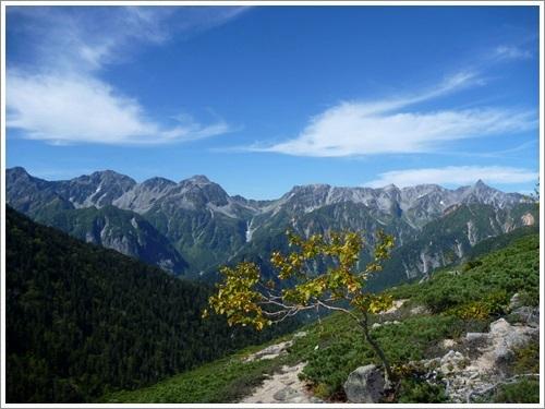 常念岳から蝶ヶ岳へ14