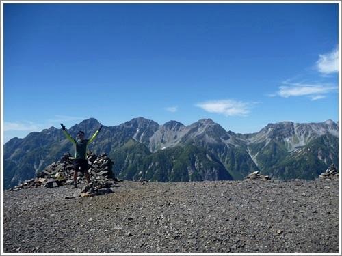 常念岳から蝶ヶ岳へ33