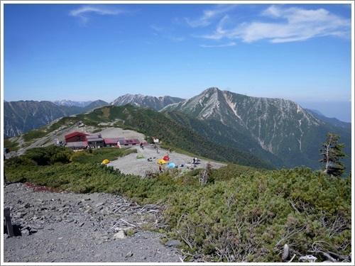 常念岳から蝶ヶ岳へ46