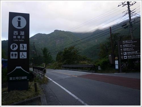 西湖からみる富士山(根場浜 )