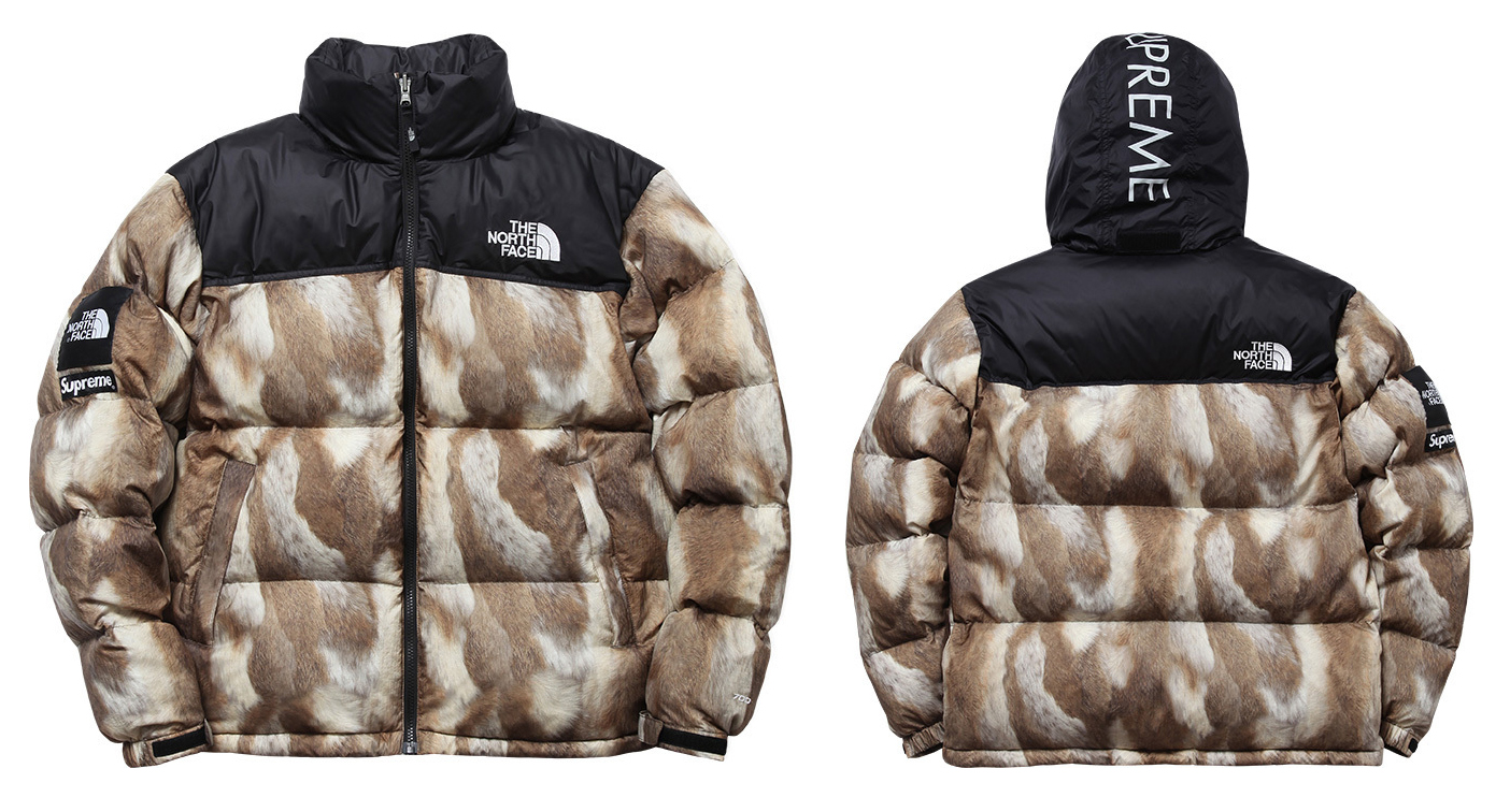 Supreme × The North Face 2013 A W Fur Print Nuptse Jacket   Vest 11 ... 36475a762