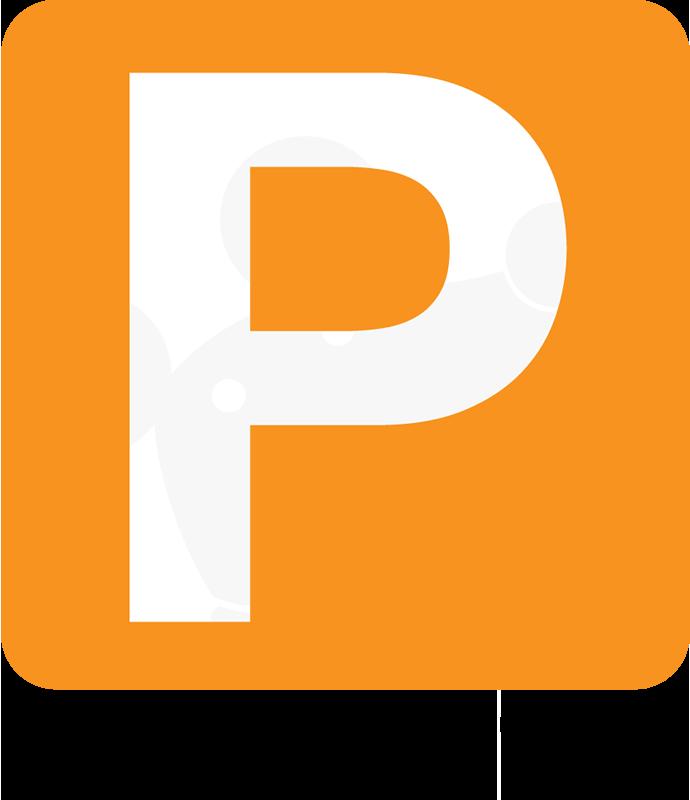 駐車場ありますロゴ