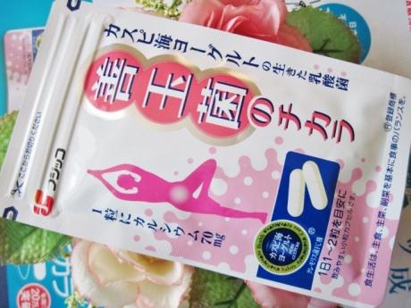 カスピ海ヨーグルトと食物繊維のサプリ「善玉菌のチカラ」!