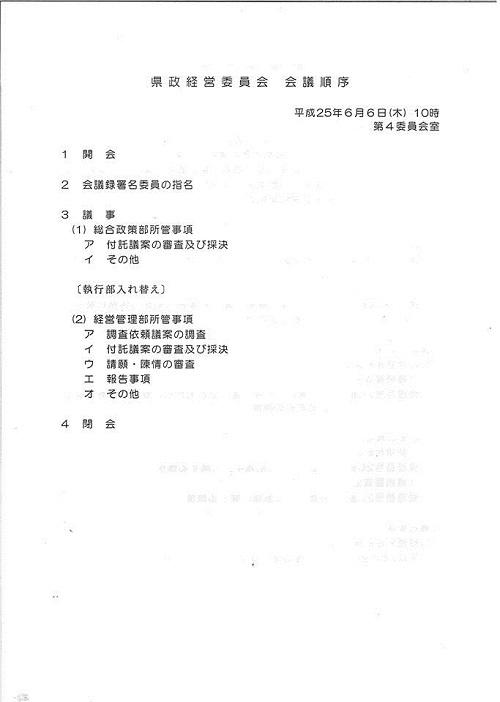 平成25年度 栃木県議会<第319回 臨時会議>県政経営委員会②