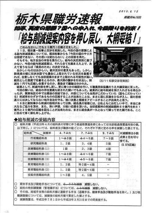 平成25年度栃木県議会<第319回臨時会議>散会②