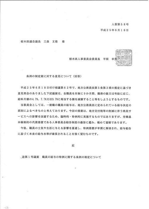 平成25年度栃木県議会<第319回臨時会議>散会⑥