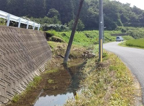 """8月6日(火)の豪雨の影響によると思われる""""土砂崩れ""""<現地調査>⑦"""