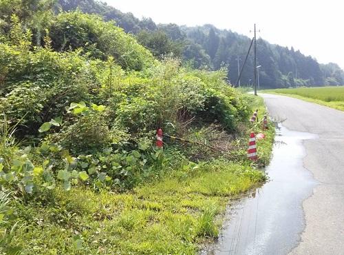 """8月6日(火)の豪雨の影響によると思われる""""土砂崩れ""""<現地調査>⑪"""