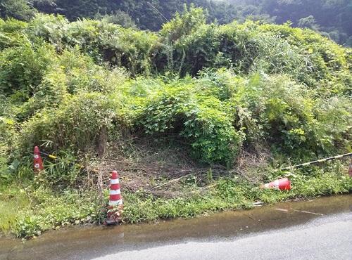 """8月6日(火)の豪雨の影響によると思われる""""土砂崩れ""""<現地調査>⑫"""