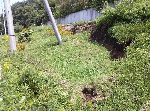 """8月6日(火)の豪雨の影響によると思われる""""土砂崩れ""""<現地調査>⑮"""