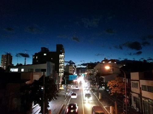 台風一過 宇都宮の夕暮れ
