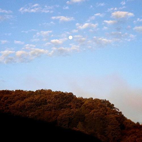 雲海と月 空のコントラスト④