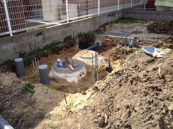 S邸新築工事~浄化槽設置